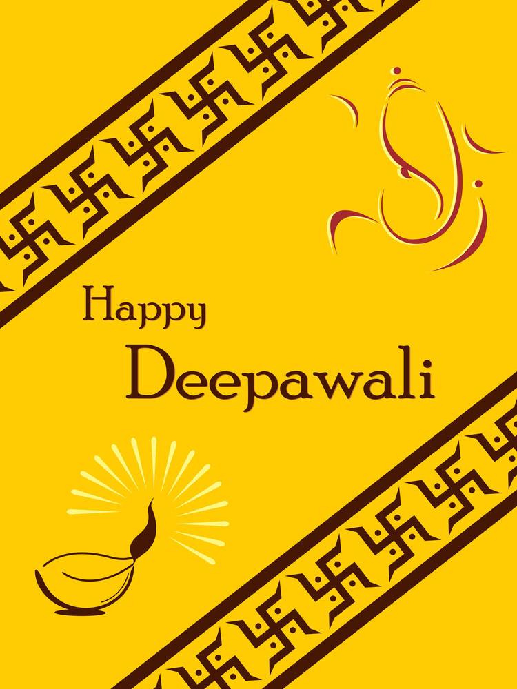 Vector Illustration For Happy Diwali