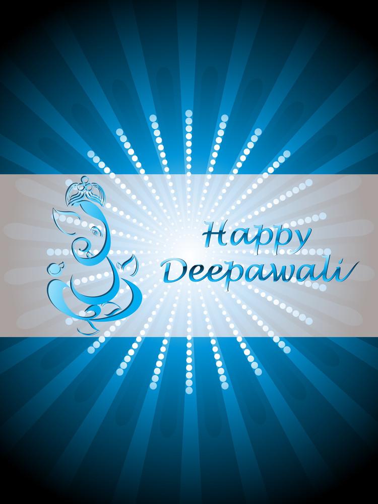 Vector Illustration For Happy Diwali