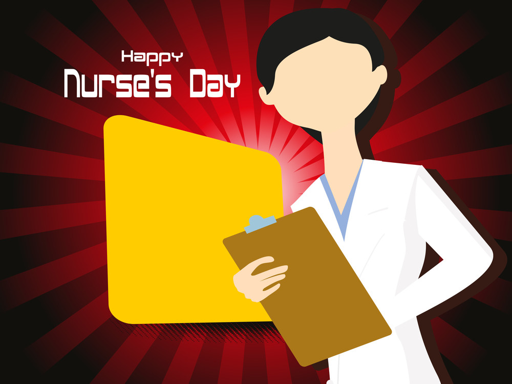 Vector Illustration For Happy Nurse's Day