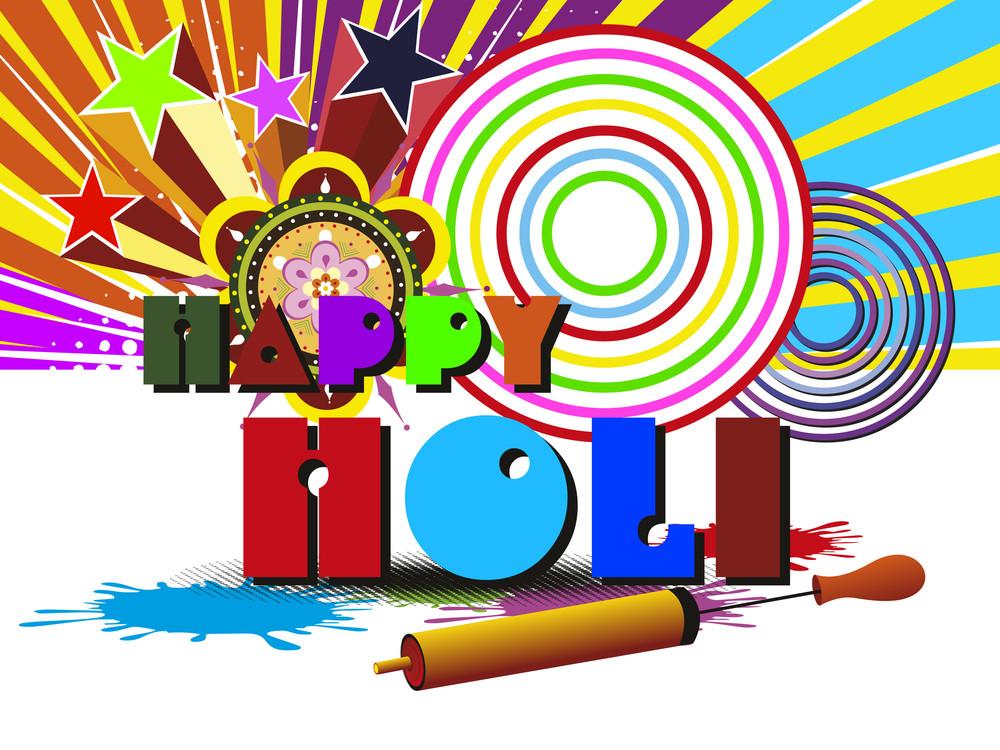 Vector Illustration For Holi Celebration