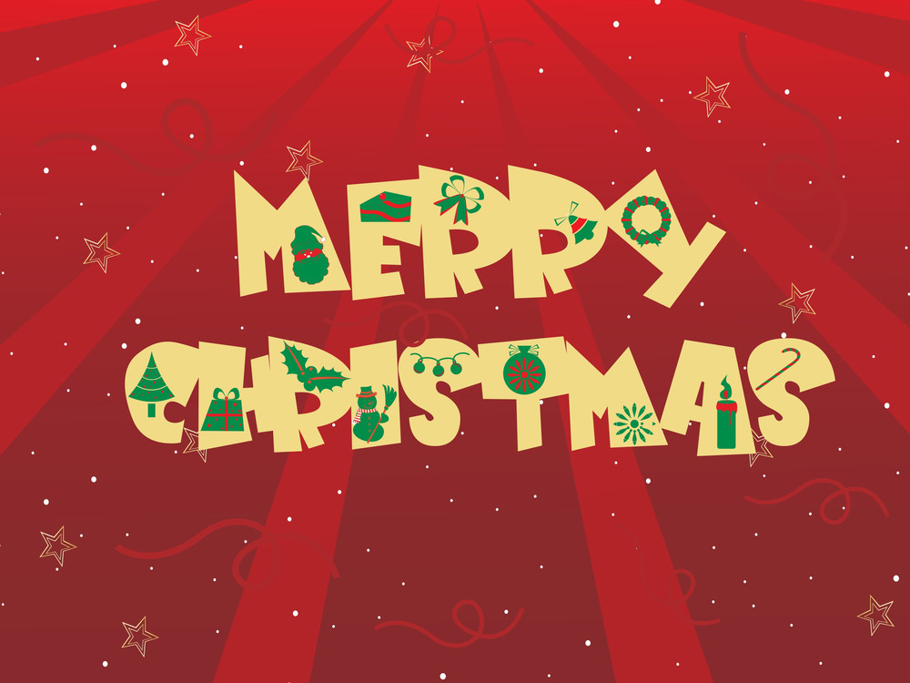 Vector Illustration For Merry Christmas Day