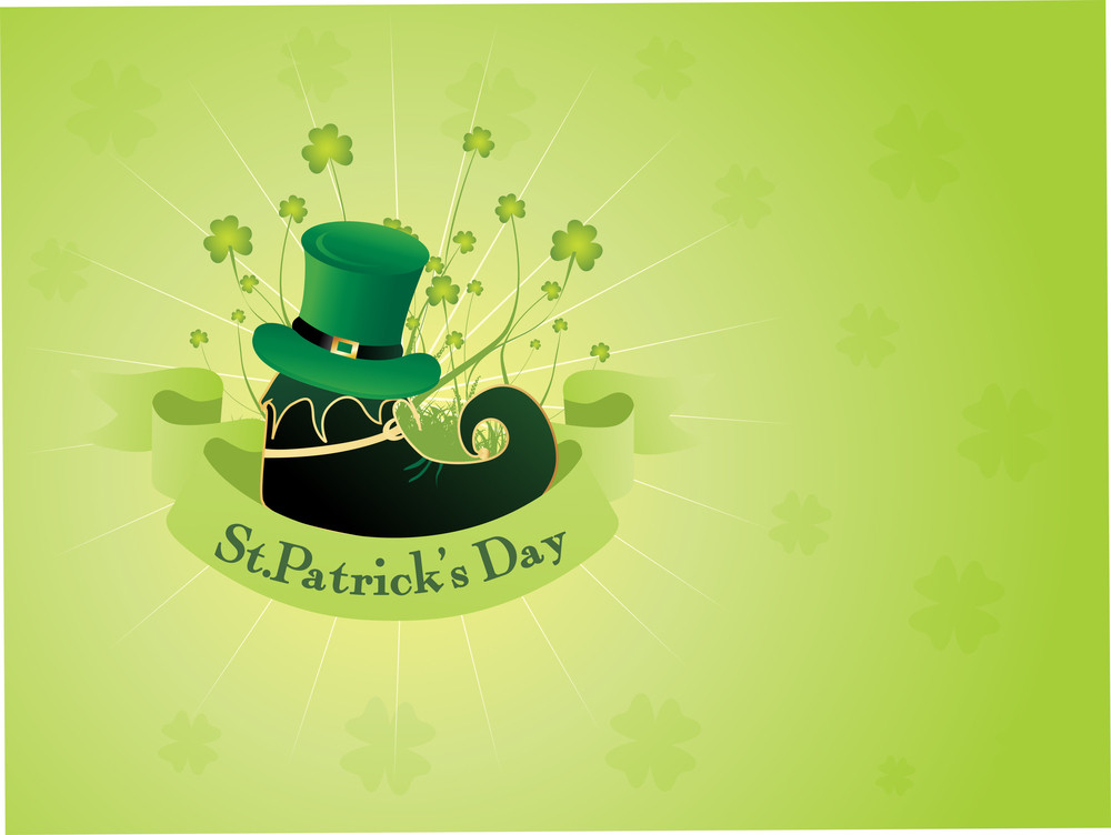 Vector Illustration For Patrick Day