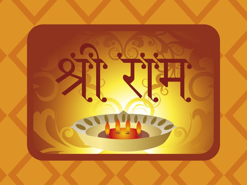 Vector Illustration For Ramnavami