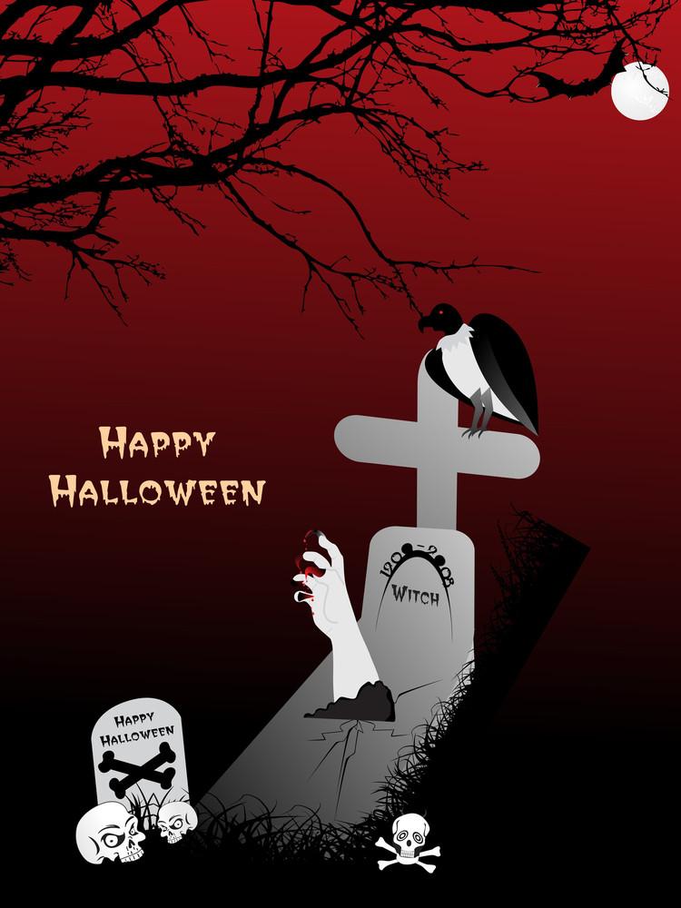 Vector Illustration For Spooky Background