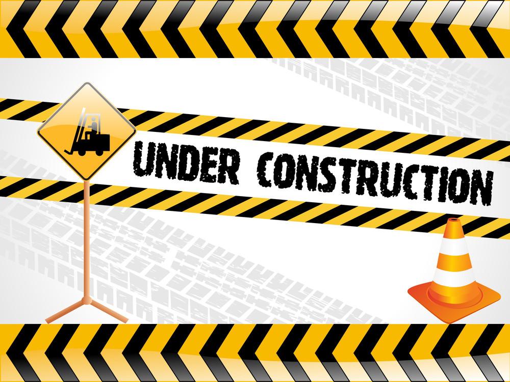 Vector Illustration For Under Construction