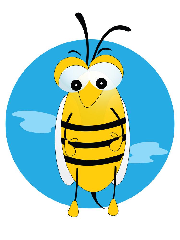 Vector Illustration Honeybee