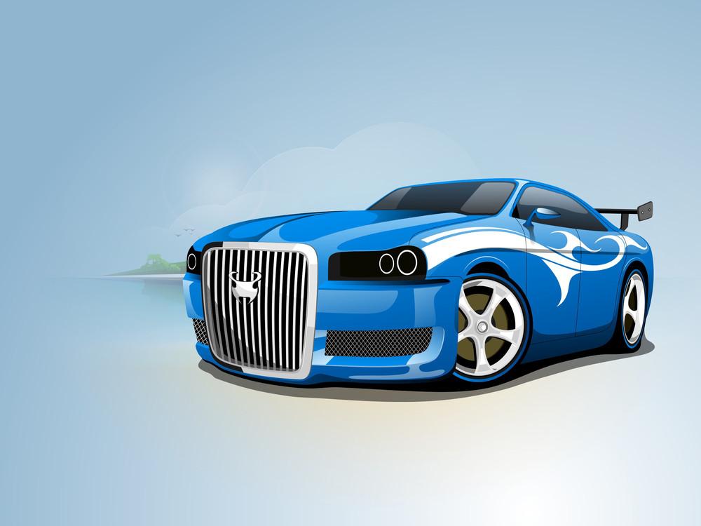 Vector Illustration Of A Car