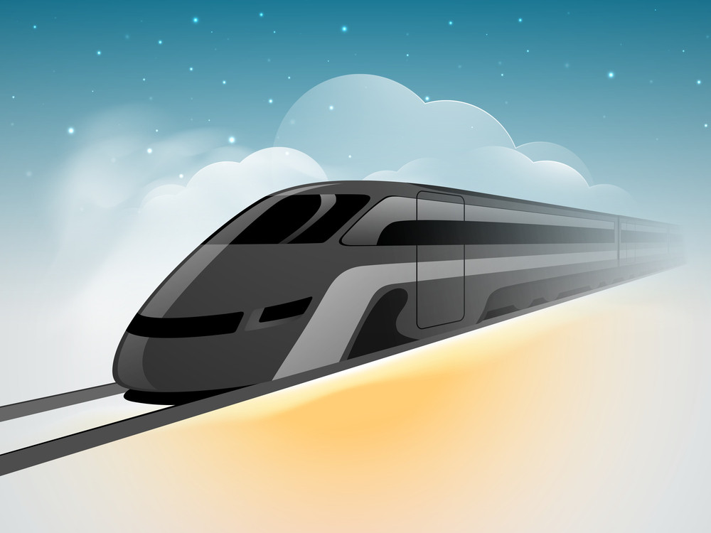 Vector Illustration Of A Mordern Train