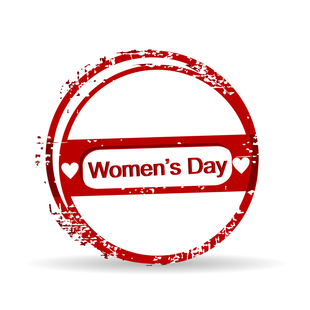 Vector Illustration Of A Rubber Stamp For Womens Day.