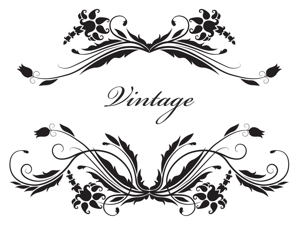 Vector Illustration Of A Vintage Floral Frame Royalty-Free ...