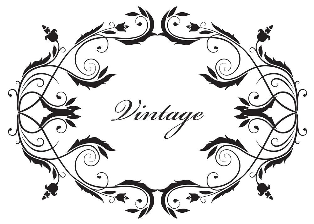 Vector Illustration Of A Vintage Floral Frame