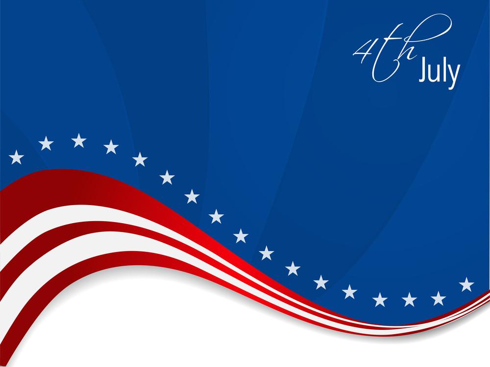 Vector Illustration Of American Flag Background.