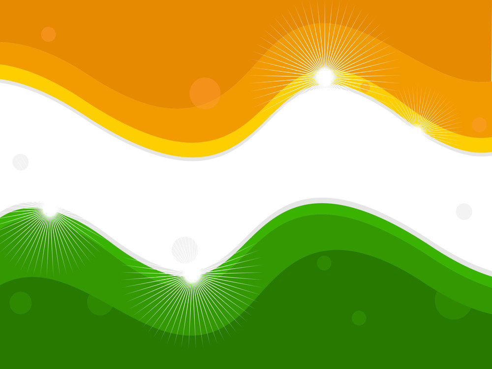 Vector Illustration Of An Indian National Flag.