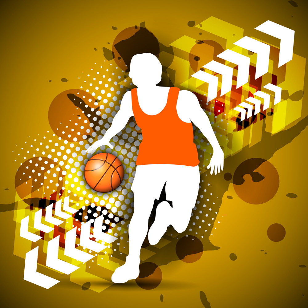 Vector Illustration Of Basketball Player