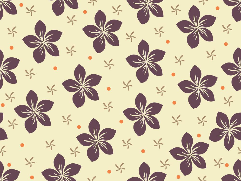 Vector Illustration Of Bloom Pattern Wallpaper