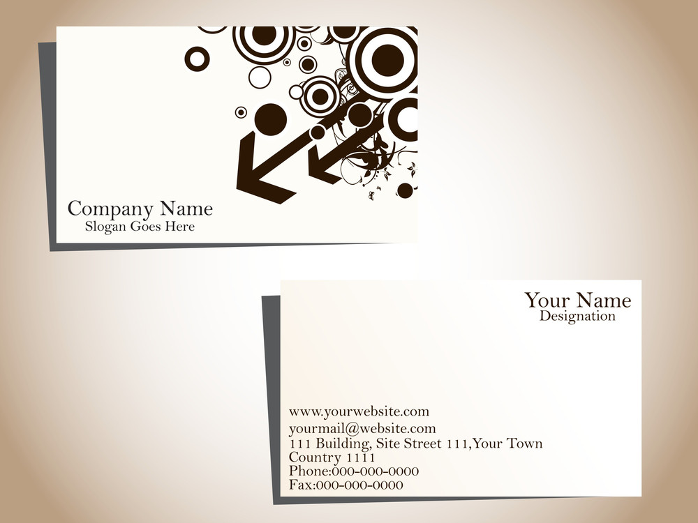 Vector Illustration Of Business Card