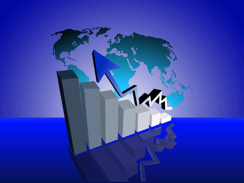 Vector Illustration Of Business Growth
