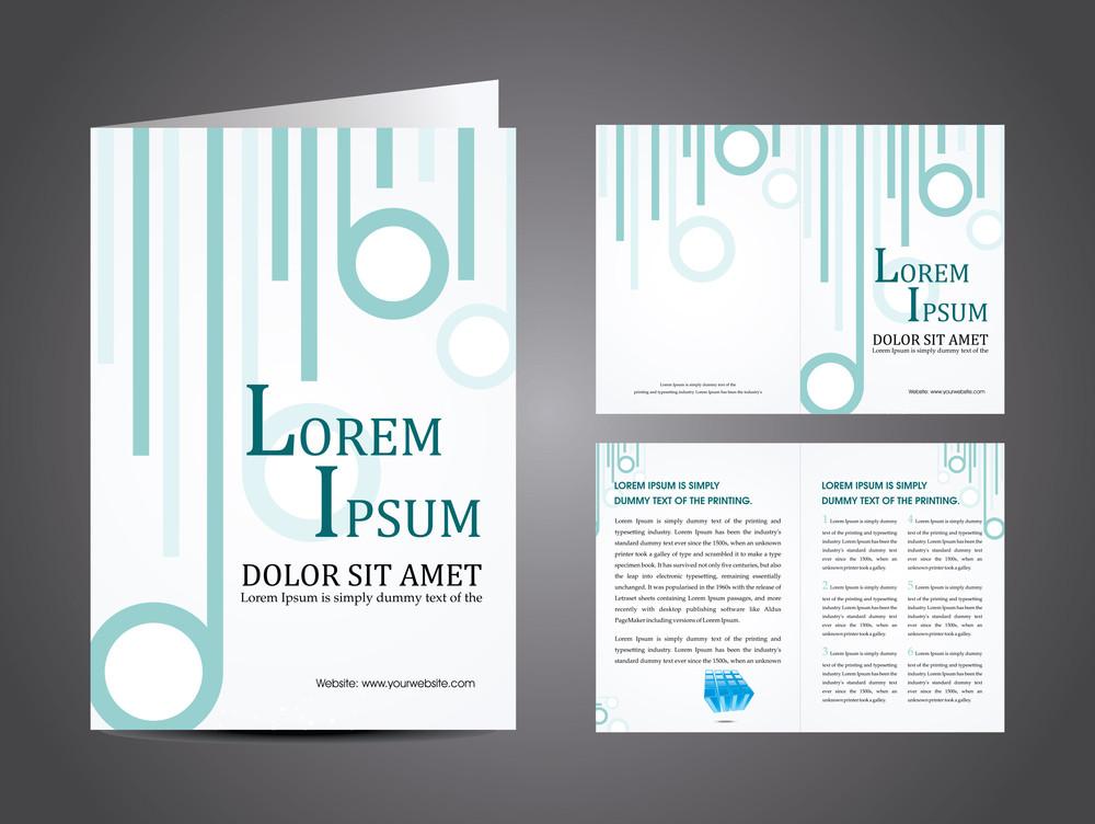 Vector Illustration Of Catalog Or Corporate Brochure Design.