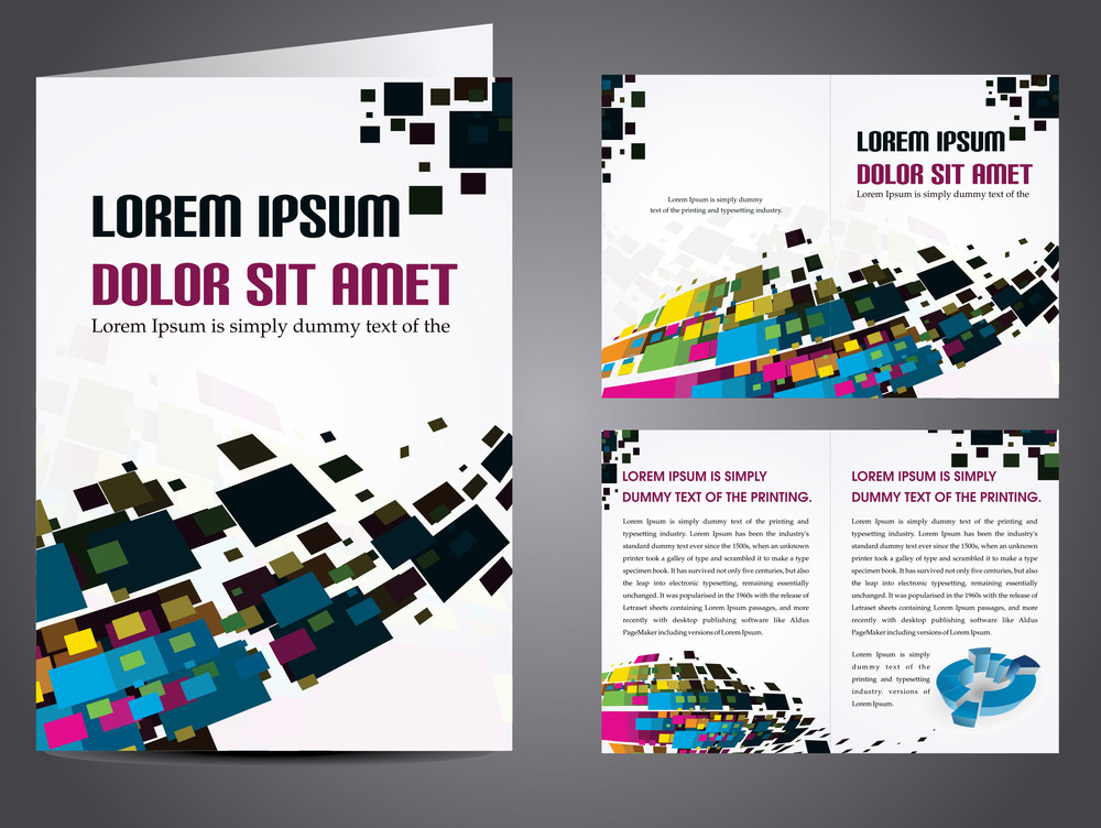 Vector Illustration Of Catalog Or Corporate Brochure Design.