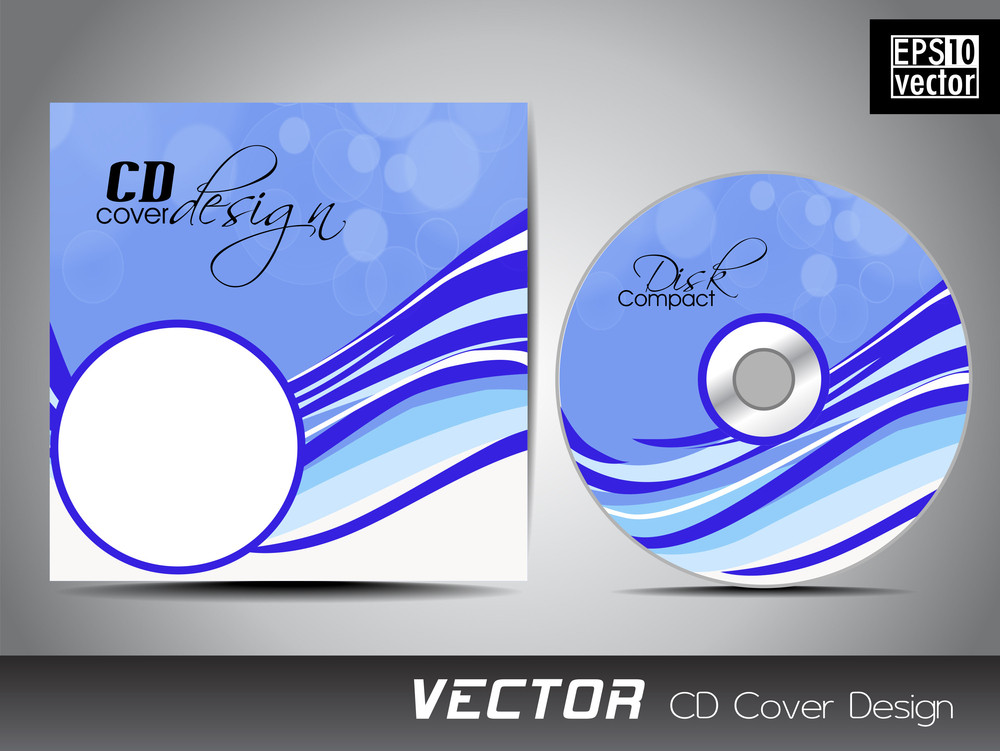 Vector Illustration Of Cd Cover Design Template. Royalty-Free