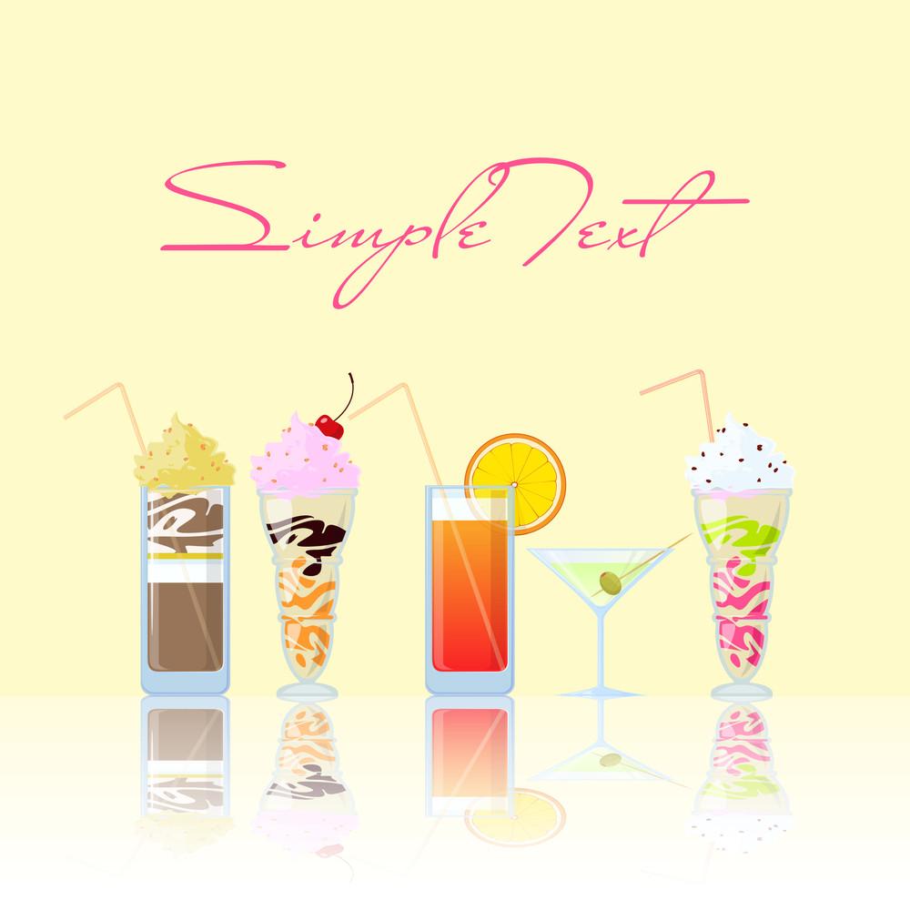 Vector Illustration Of Cocktails. Eps10