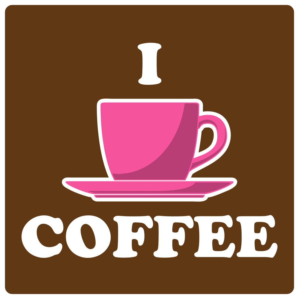Vector Illustration Of Coffee-cup And Text.