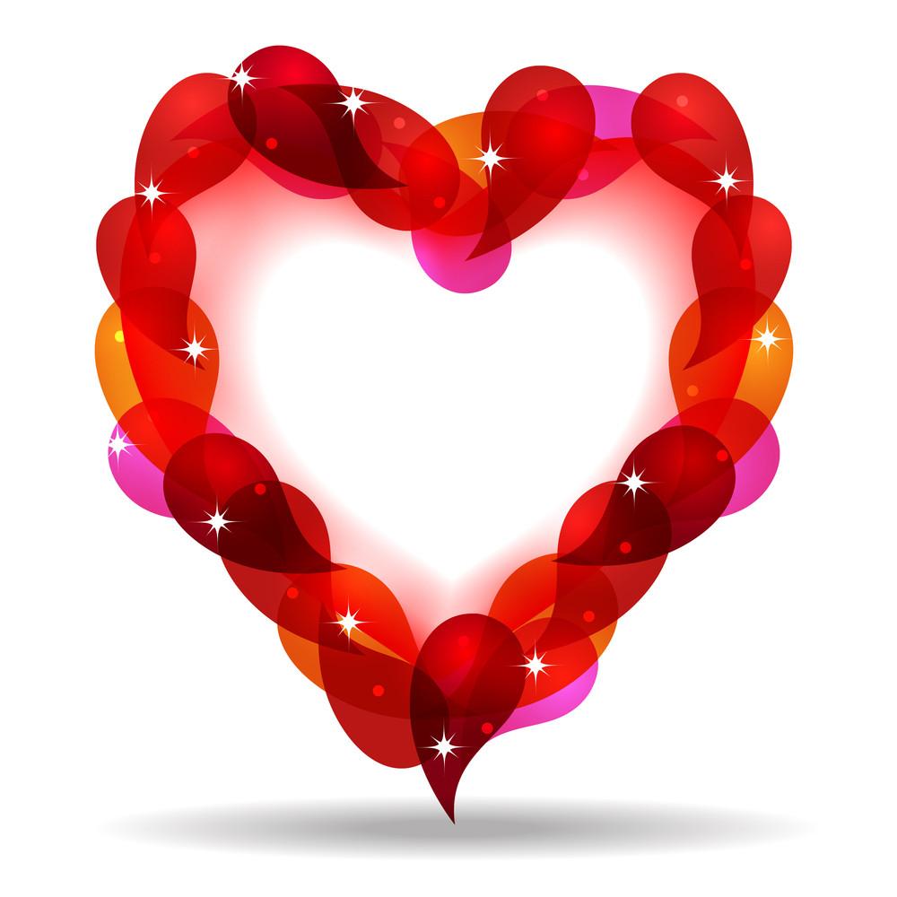 Vector Illustration Of Creative Heart Shape.