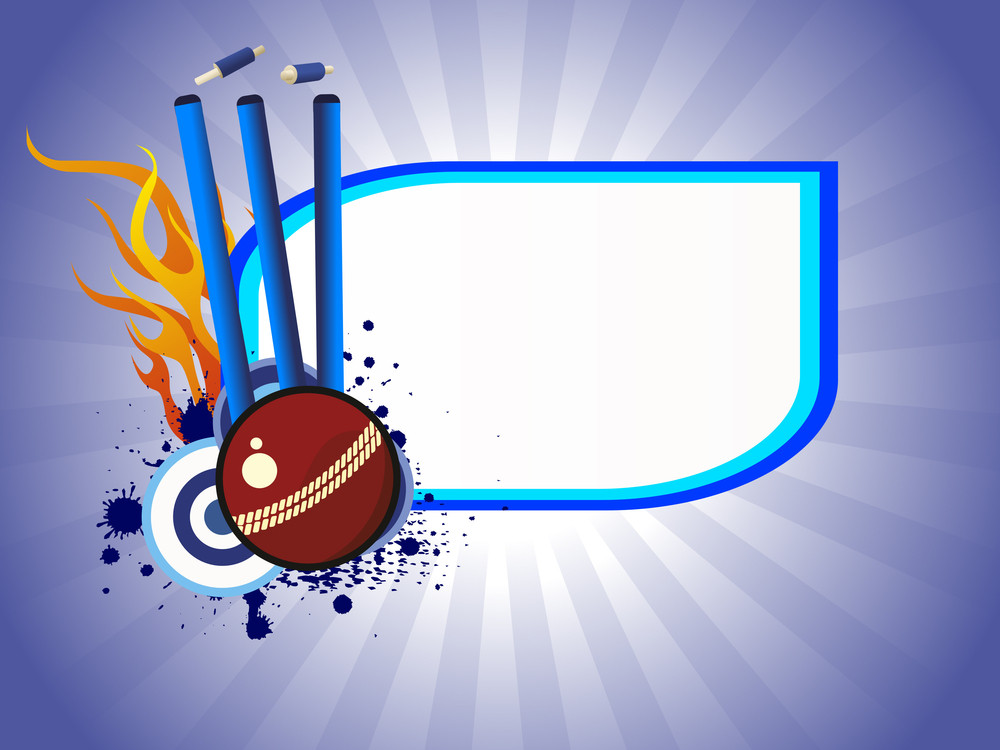 Vector Illustration Of Cricket Background Royalty Free