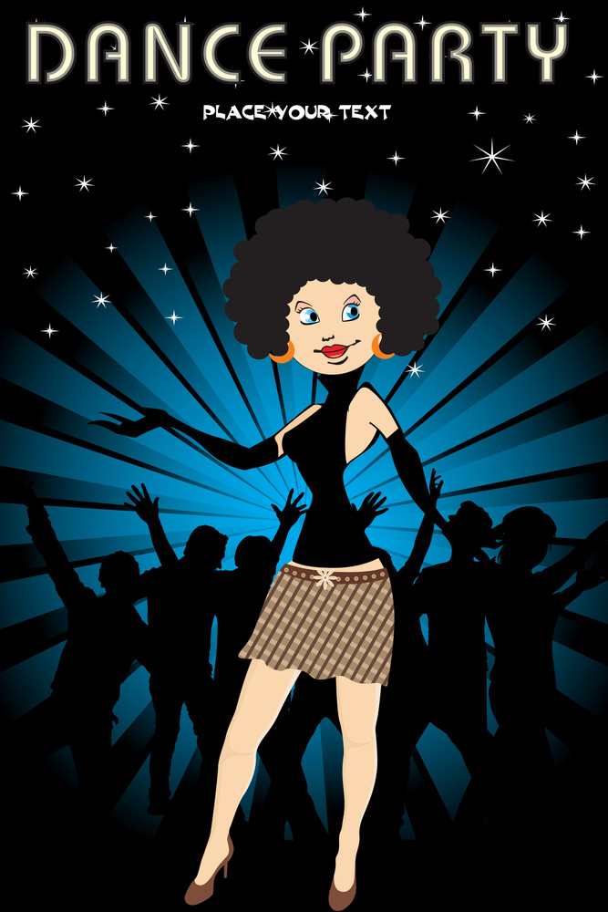 Vector Illustration Of Dance Party Background