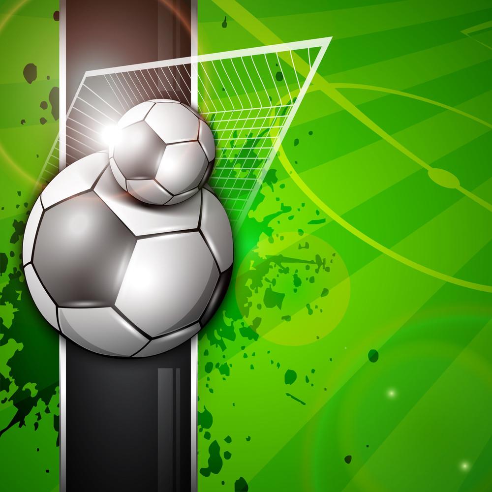Vector Illustration Of Football