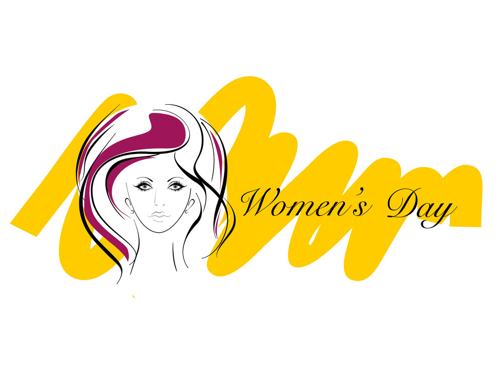 Vector Illustration Of Greeting Card For Womens Day.