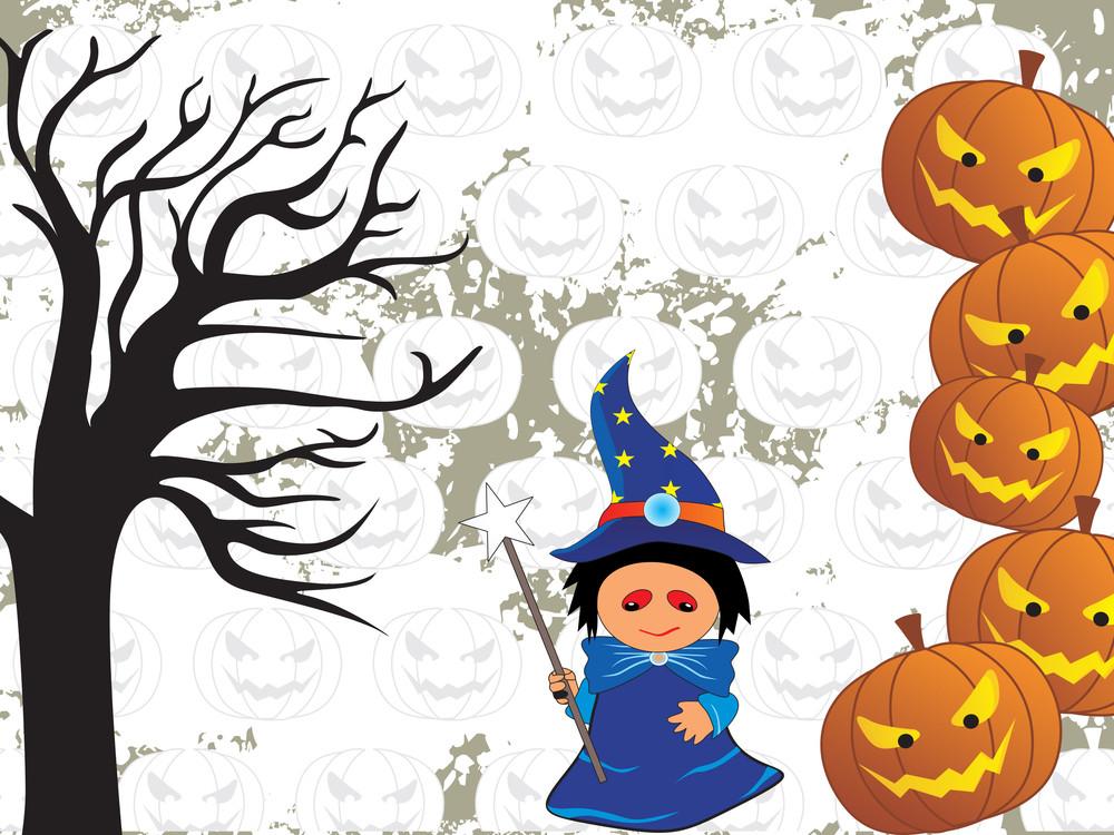 Vector Illustration Of Halloween Background