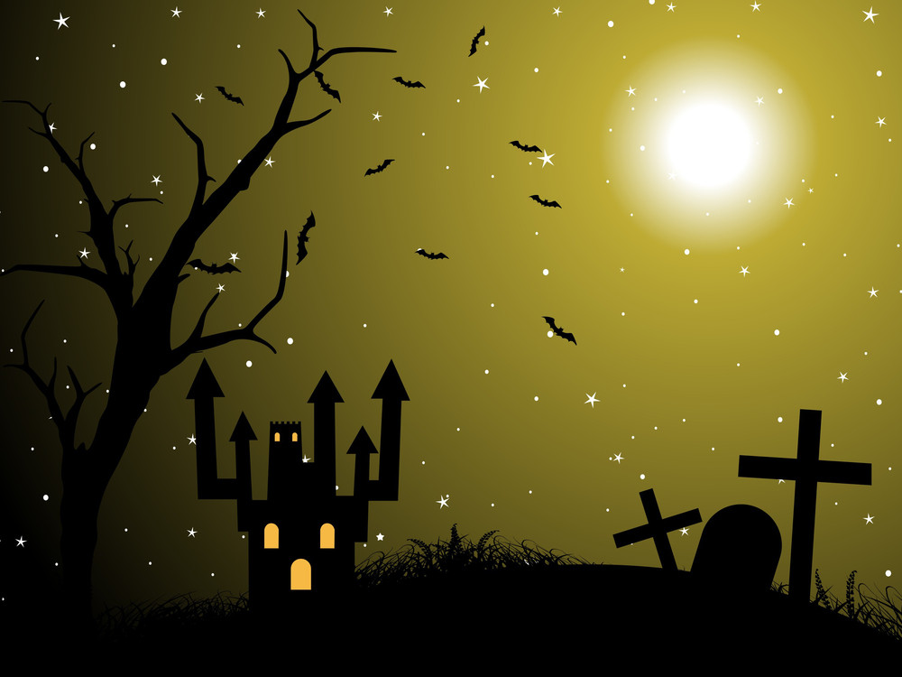 Vector Illustration Of Halloween Wallpaper