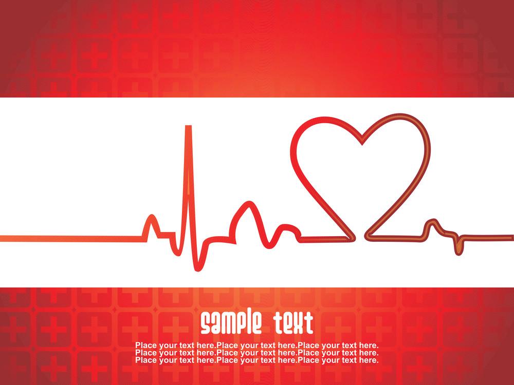 Vector Illustration Of Heart Beat