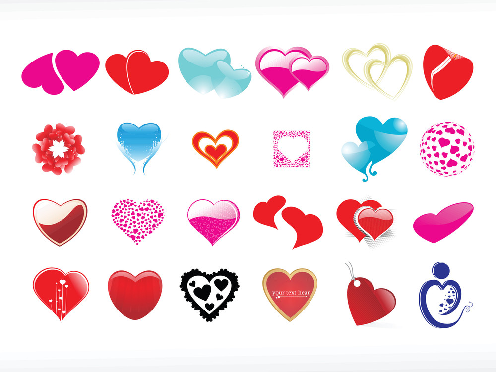 Vector Illustration Of Heart Icon Set5