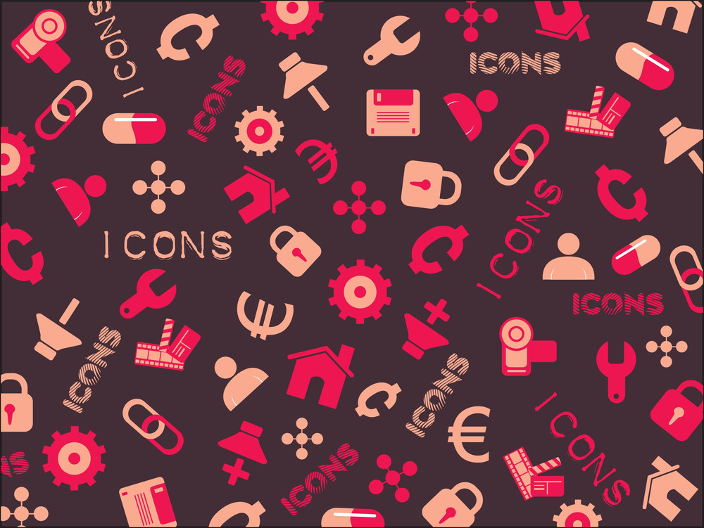 Vector Illustration Of Icons
