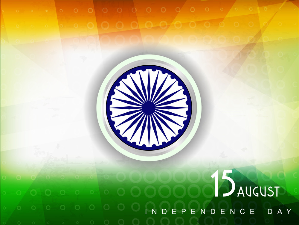 Vector Illustration Of Indian Tricolor Flag With Grunge Background For Republic Day And Independence Day.
