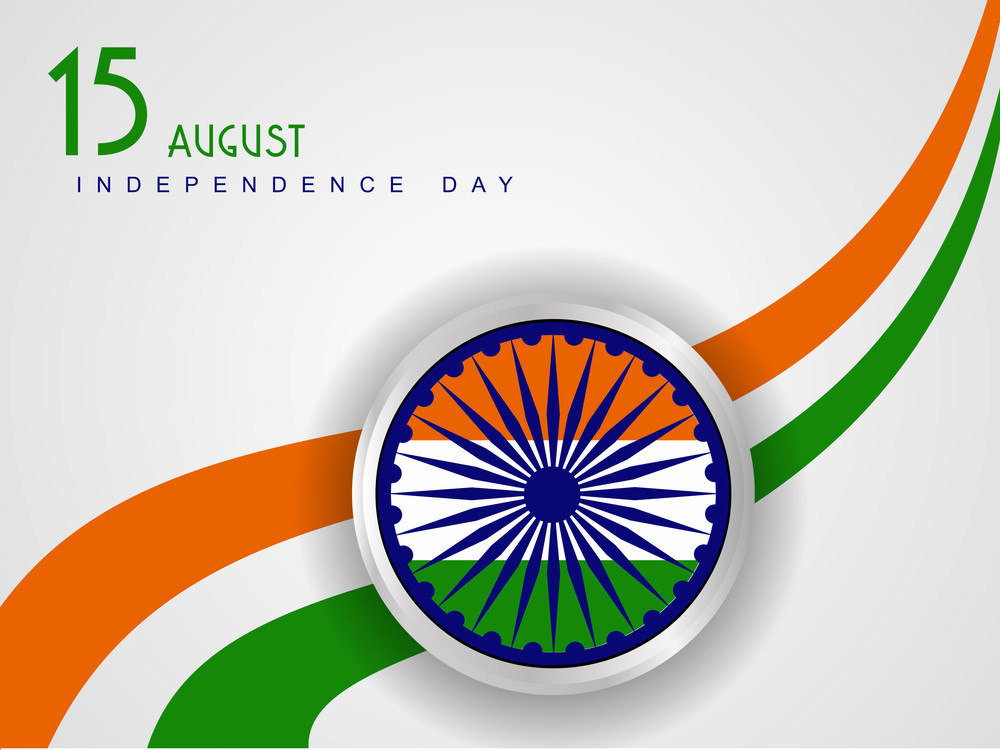 Vector Illustration Of Indian Tricolor Flag With Wave On White Isolated Background For Republic Day And Independence Day.