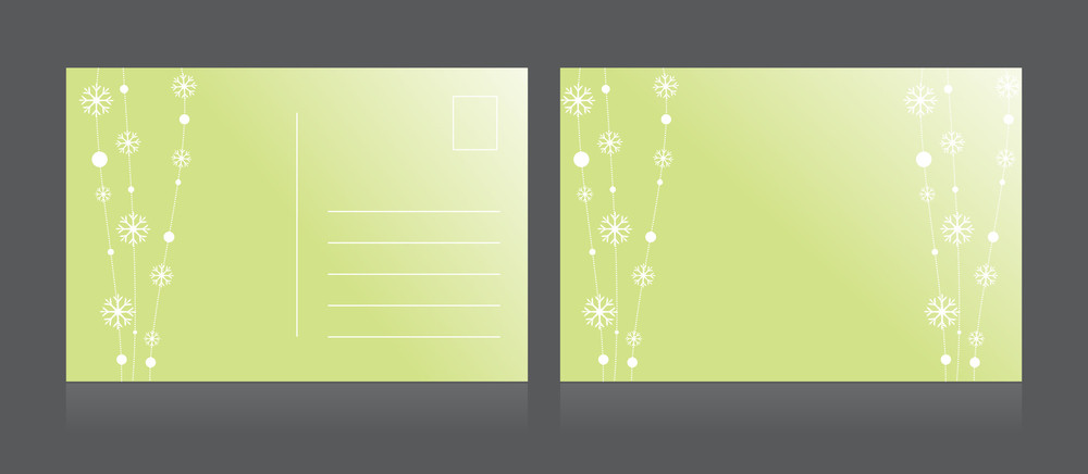 Vector Illustration Of Isolated Postcard