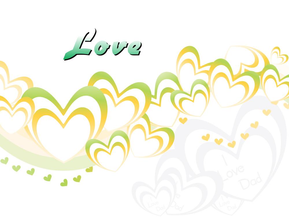 Vector Illustration Of Love Background