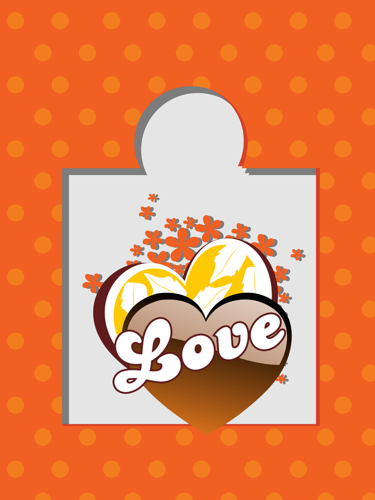 Vector Illustration Of Love Card