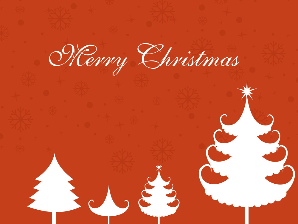 Vector Illustration Of Merry Xmas Background