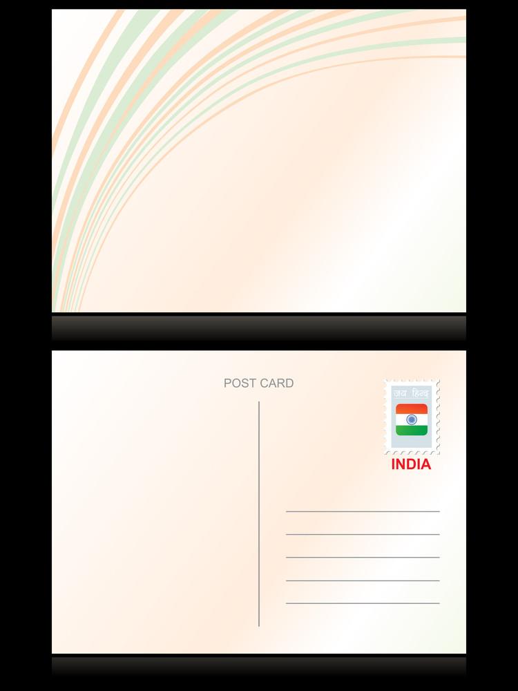 Vector Illustration Of Postcard