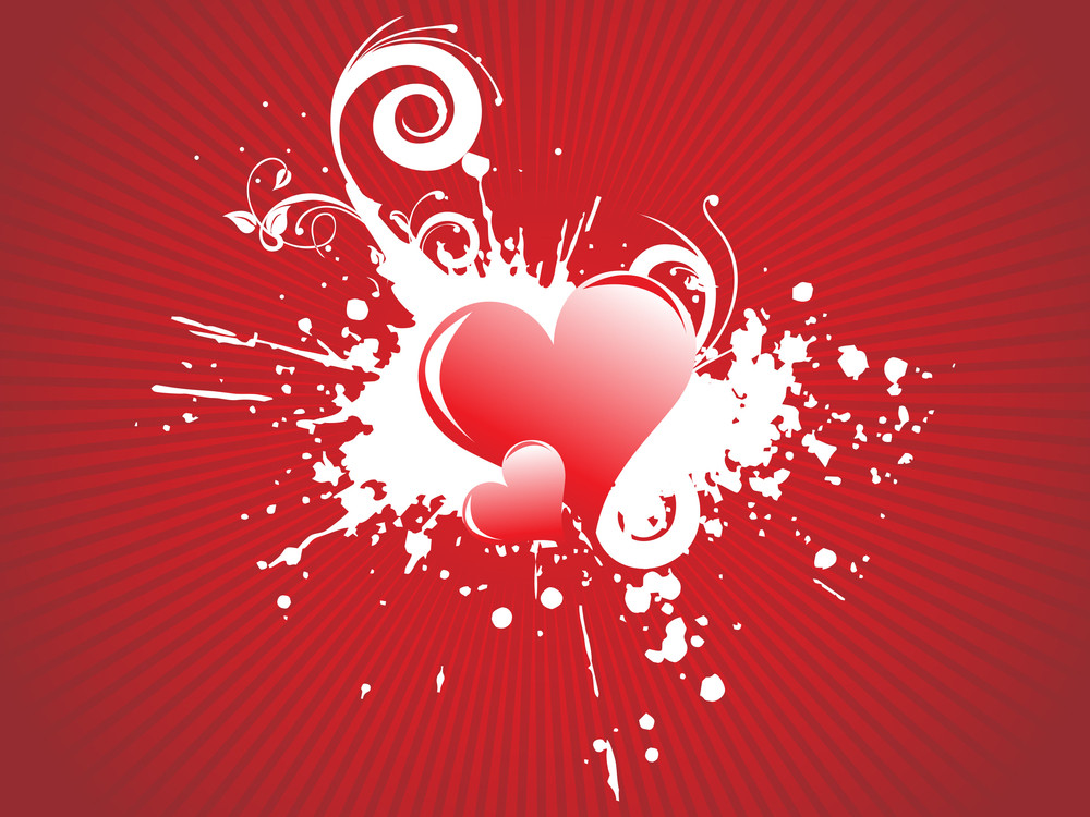 Vector Illustration Of Red Hearts