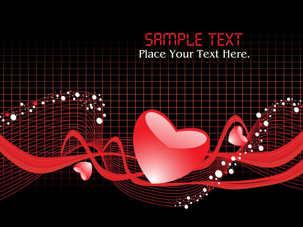 Vector Illustration Of Romantic Background