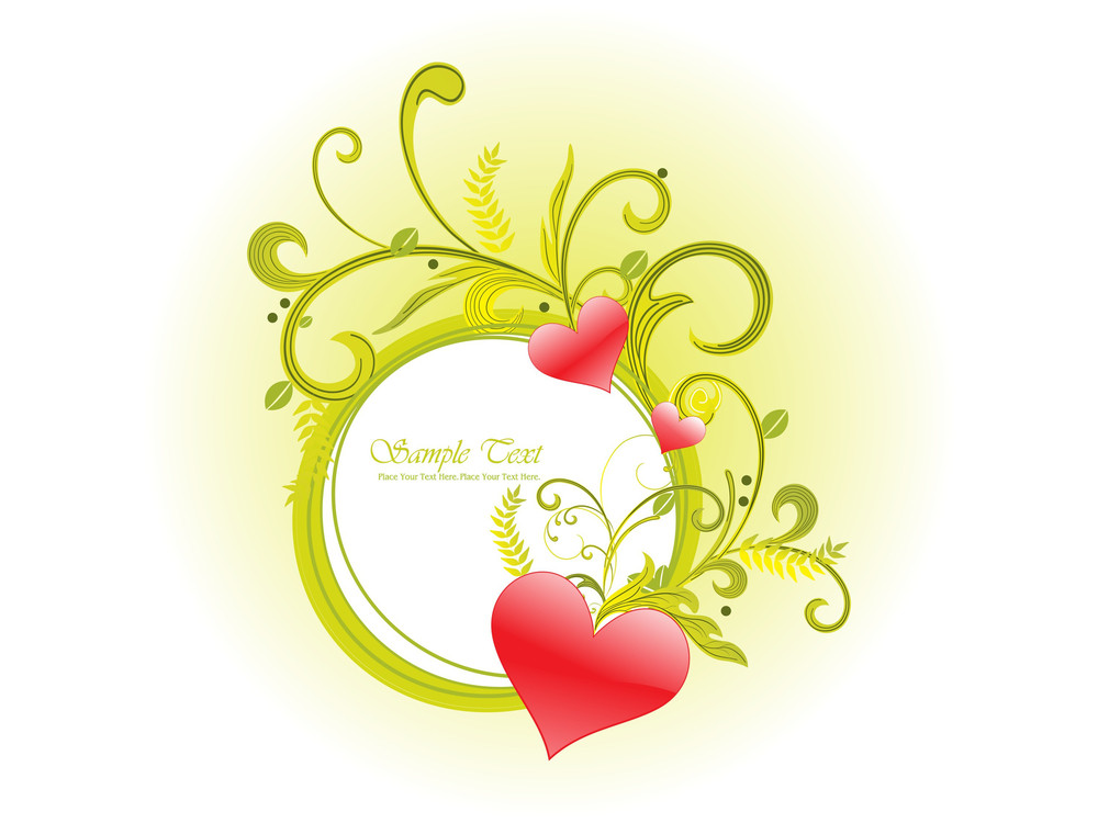 Vector Illustration Of Romantic Frame