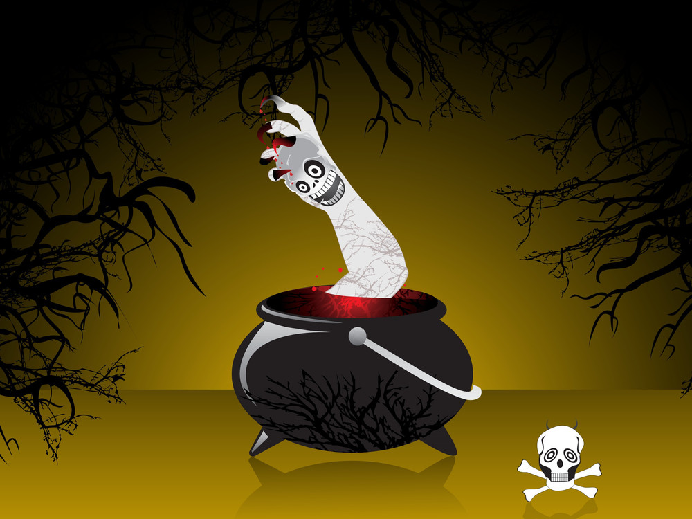 Vector Illustration Of Scary Background