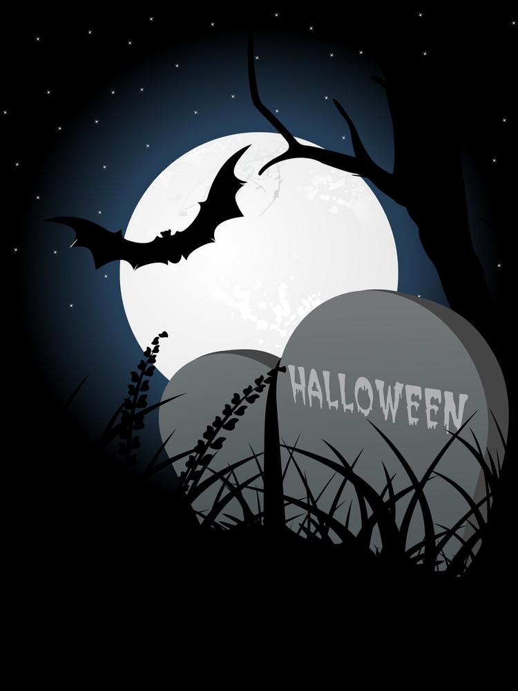 Vector Illustration Of Spooky Background