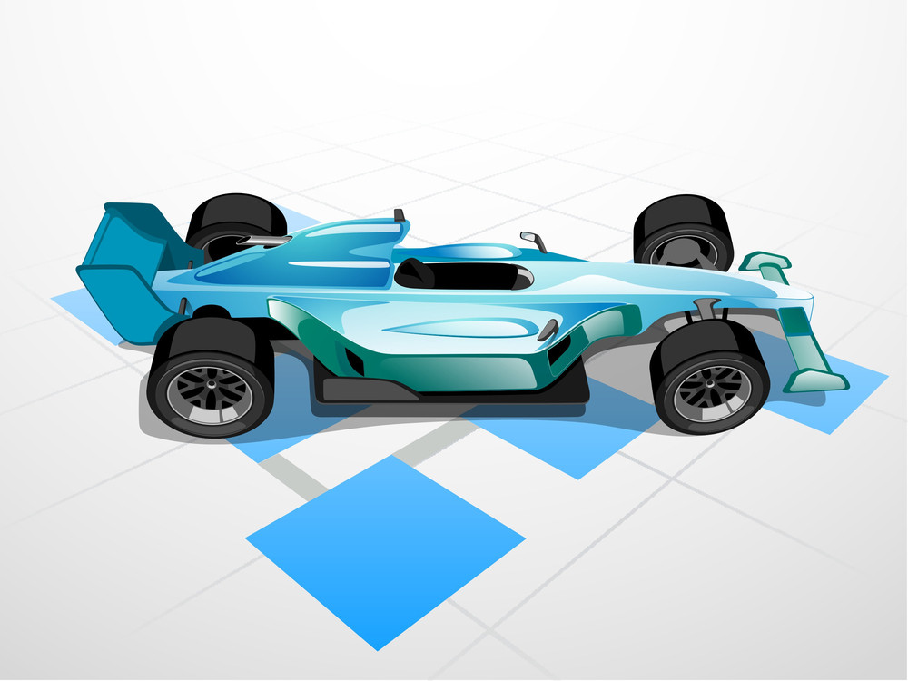 Vector Illustration Of Sports Car