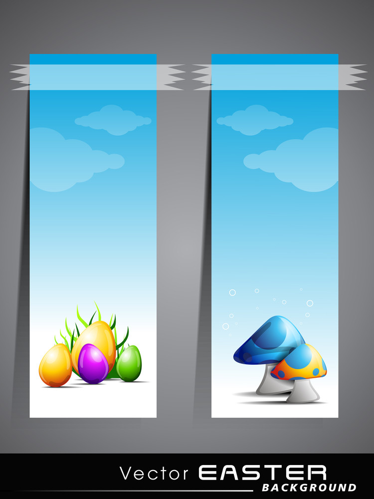 Vector Illustration Of Sticker Or Label For Easter.